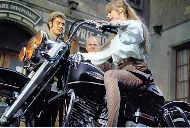 The Girl on the motorcylcle